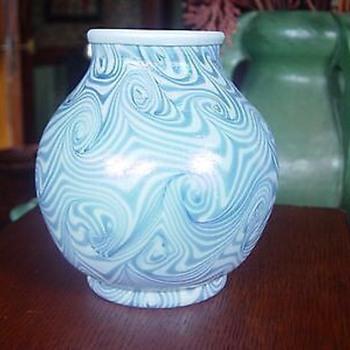 """Unsigned art glass vase king tut 5"""" - Art Glass"""