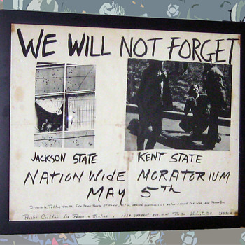 #42 ~ Original 1970 KENT STATE National MORATORIUM Poster