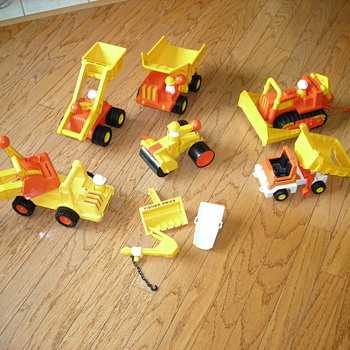 The 70's Fisher Price Construction Fleet lot!!