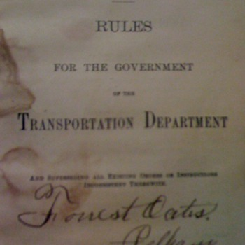 1887-L&N Railroad Rule Book - Railroadiana