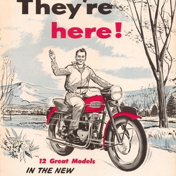 1957 - Triumph Motorcycles Sales Brochure - Paper