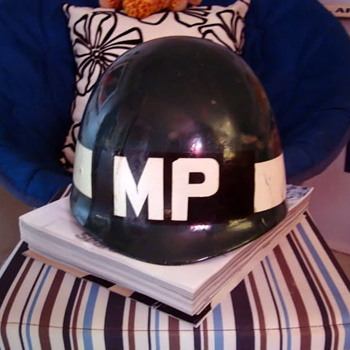 Military police helmet - Military and Wartime