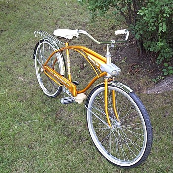 Gold Columbia Bicycle Unrestored w/ Original Tires - Sporting Goods