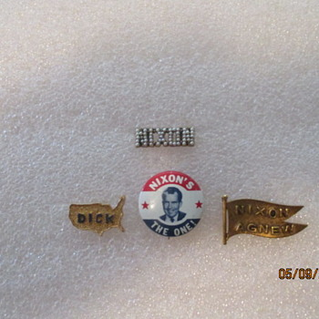 Richard Nixon Campaign Pins - Medals Pins and Badges