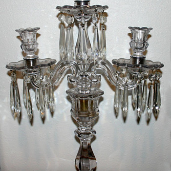 My Fav -- 3 Arm Crystal Candelabra  - Victorian Era