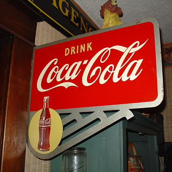 1949 Coca-Cola Double-Sided Flange Sign - Coca-Cola