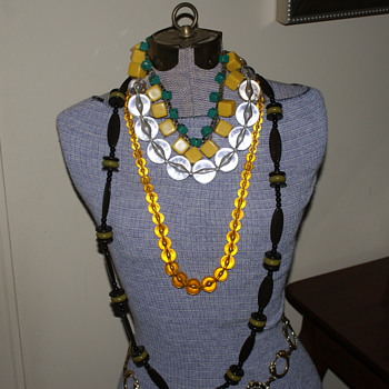 Some not so old plastic necklaces - Costume Jewelry