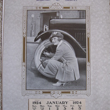 1924 CALENDAR, BLEILE'S GARAGE , GASPORT, NEW YORK  Phone 149-J - Advertising