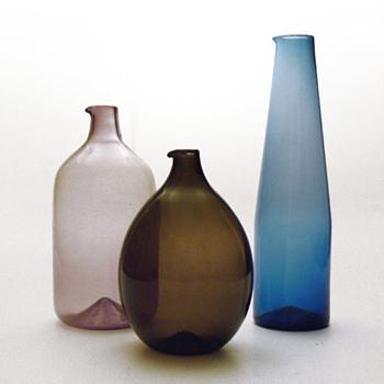Jugs from the i-lasi series, Timo Sarpaneva (1950s, Iittala) - Art Glass