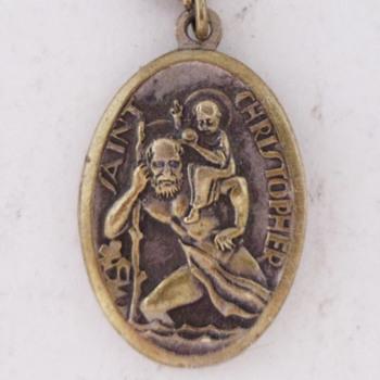 St. Christopher Keychain Fob.....Art-Deco - Fine Jewelry
