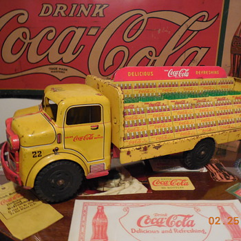 1950's Coca-Cola Tin Truck by Marx - Coca-Cola