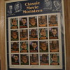 """""""Classic Movie Monsters"""" uncut sheet of stamps"""