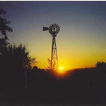Windmill sunset - Photographs