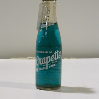 Grapette Grape soda bottle. - Bottles