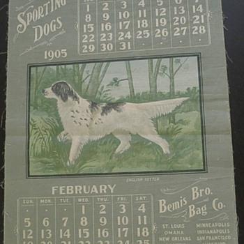 1905 Bemis Bros. Bag Co. Advertising Calendar - Advertising