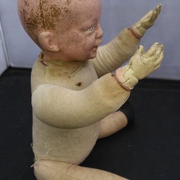 antique German bisque boy doll part 2 - Dolls