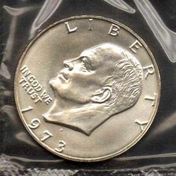 1973 S - Eisenhower Dollar UNC Mint Silver
