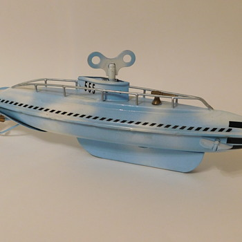 Early Tin Clockwork Wolverine Submarine Wind-Up (Modified) - Toys