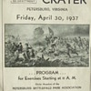 "1937 Program for a Re-Enactment of the Civil War ""Battle of the Crater"""