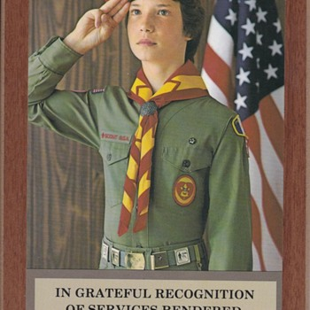 Boy Scout Appreciation Plaques With Belt Award Loops - Sporting Goods