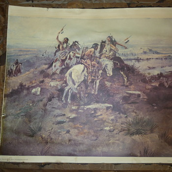 Charles M Russell-Indians Discovering Lewis and Clark-G708  - Fine Art