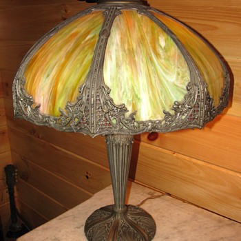 Charles Parker Co. - swag glass lamp - Lamps