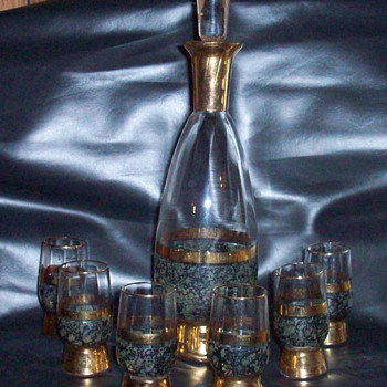bottle and glass set - Glassware