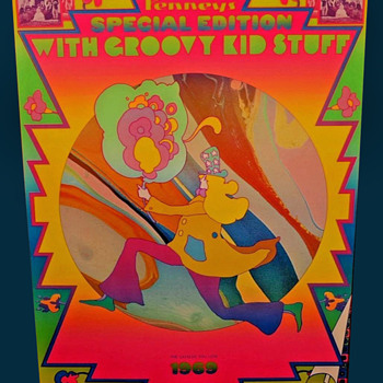 SIGNED Original Peter Max 1969 Advertising Poster for J.C. Penney  - Posters and Prints