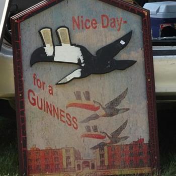 Wooden Guinness sign