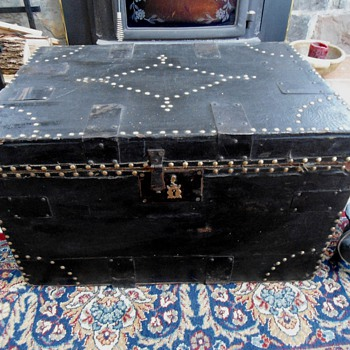 Late 1700's antique Brass Tack Trunk - Furniture