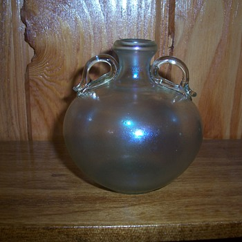 blown carnival glass vase? info please - Glassware