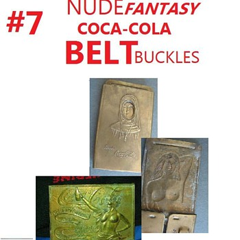 #7 nude coca cola belt buckles - Coca-Cola