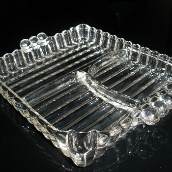 3 compartment ashtray - Tobacciana