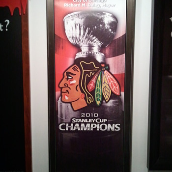 Chicago Blackhawks Stanley Cup Champs banner - Offical City of Chicago  - Hockey
