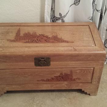 Cedar (Asian?) Chest - Furniture