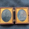 Ambrotypes in thermoplastic case