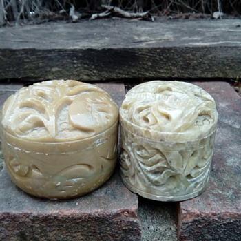 My soap stone pots - Asian
