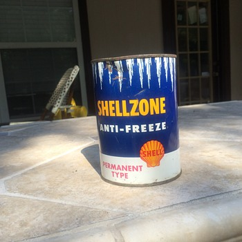 1950's SHELLZONE ANTI-FREEZE PERMANENT TYPE - Petroliana