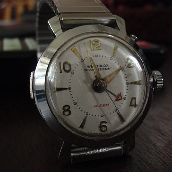 "1960 Westclox Alarm watch        ""Watchlarm"" - Wristwatches"