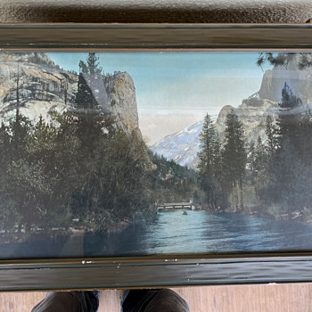 Large Tinted Photograph of Yosemite - Photographs