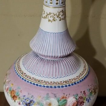 Beautiful Hand Painted Bisque Porcelain Vase - China and Dinnerware