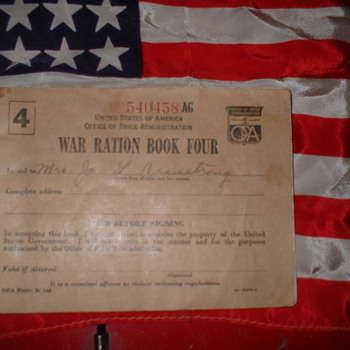 WW 2 Ration Book