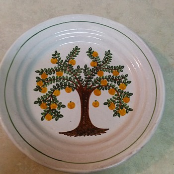FRUIT TREE REDWARE PLATE - Pottery