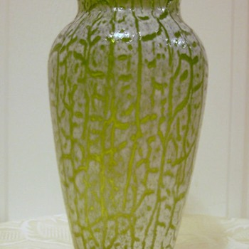 """CAVEAT EMPTOR"" Mystery Cracquelle Vases - Art Glass"