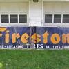1940s Firestone Porcelain Sign