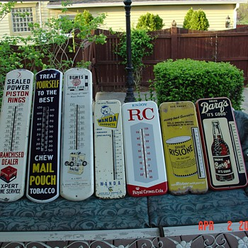 "Seven Old Thermometers...from ""1937"" to ""1960's"""