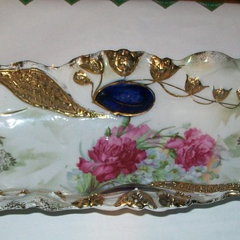 Pickle dish/ relish tray China with germany 41 on back - China and Dinnerware