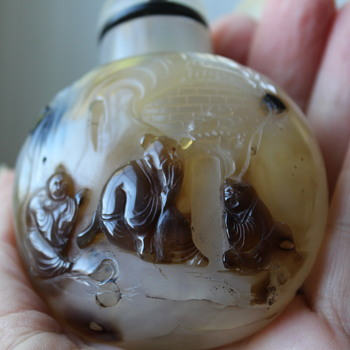 Shadow Agate Snuff Bottle - Asian