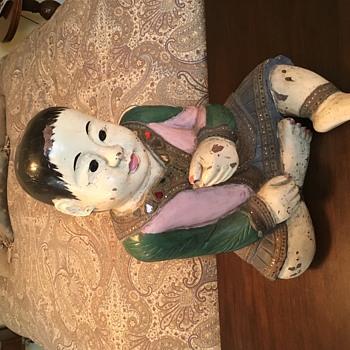 Life Size Wooden Boy - Asian