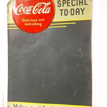 1941 Coca Cola tin chalkboard  - Coca-Cola